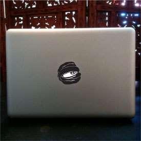 Evil Apple Eye macbook pro skin vinyl decal