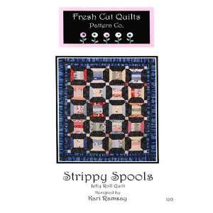 Strippy Spools Jelly Roll Quilt Pattern By The Each: Arts