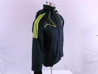 Predator Mens Medium M Soccer UCL Track Top Jacket Suit Black Yellow