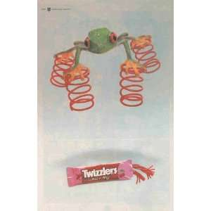 Twizzlers Pull n Peel Red Licorice: Frog with Springs on Feet: Great