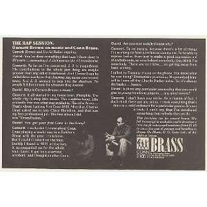 Rap Session Interview Conn Brass Print Ad (Music Memorabilia) (51946