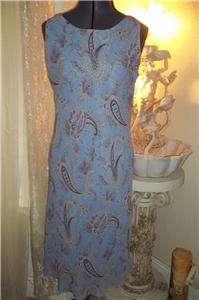 RONNI NICOLE WOMENS/JUNIORS PAISLEY DRESS 8/10 M NEW!!!