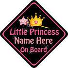 PRINCESS ON BOARD CAR SIGN MOBILITY SPECIAL NEEDS