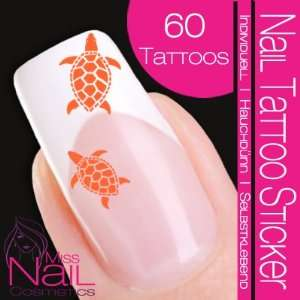 Nail Tattoo Sticker Turtle / Tortoise   orange: Beauty