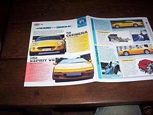 IMP info/photo card TVR Cerbera Lotus Esprit V8