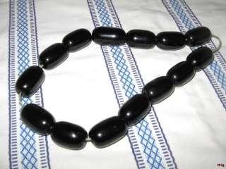 Antique Turkish Dark Cherry Amber Bakelite Prayer Worry Huge Beads 64