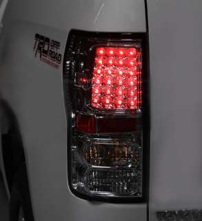 07 11 Toyota Tundra Black LED Tail Lights lamps Pair
