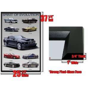 Framed Ford Mustang Evolution Poster 65 07 Car Fr36006