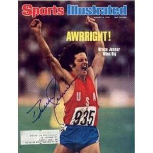 Bruce Jenner autographed Sports Illustrated Magazine