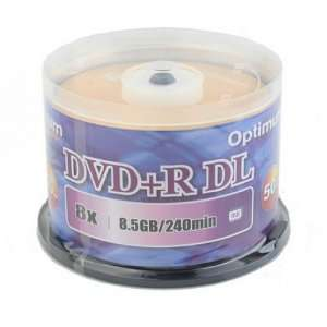 Optimum DVD+R Dual Layer (DL) 8X Branded Gold Surface Double Layer DVD