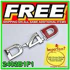 3D Chrome Car Badge Decal Emblem Logo ABS Sign Auto Adhesive 1 Piece