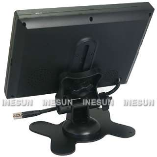 TFT LCD Monitor 2 Video 1 Audio Input DC12V 16 : 9 Play Mode