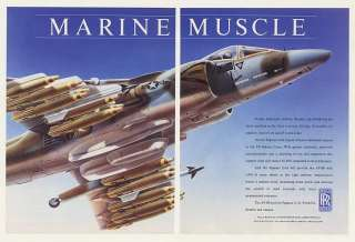 1990 US Marines AV 8B Aircraft Rolls Royce Pegasus 11 61 Engine 2 Page