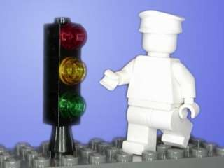 New LEGO Basic Stop Light / Traffic Signal City Town Black