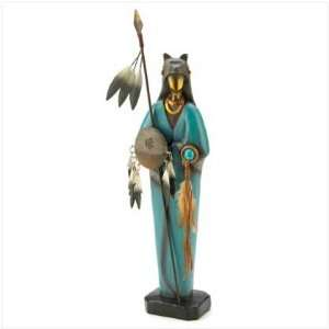 Bear Paw American Indian Warrior Figurine Accent Decor