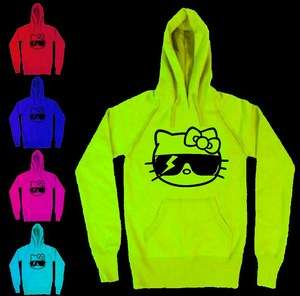 Hello Kitty Lady Gaga Monster Sunglasses Hoodie Hoody NEON