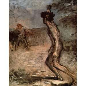 Oil Painting David and Goliath Edgar Degas Hand Painted