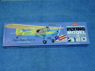 PIPER SUPER CUB 95 BALSA FLYING MODEL AIRPLANE KIT #303 24 WING SPAN