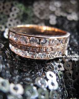 GENUINE 9CT SOLID ROSE GOLD ENGAGEMENT WEDDING LADY SIMULATED DIAMOND