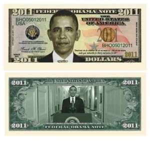 President Barack Obama 2011 Dollar Bill (10/$4.99)