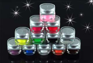 12 Mix Color UV Acrylic Nail Art Glitter Gel Set Tips