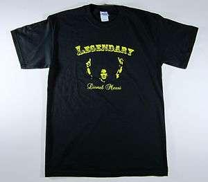 Legendary Lionel Messi T Shirt, Barcelona, Mens Black T shirt