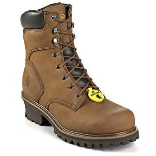 Mens CHIPPEWA 8 Logger Steel Toe Work Boots 55026