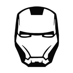 Ironman Head Avenger Vinyl Die Cut Decal Sticker 6.75