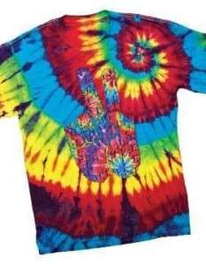 Electrodye Tie Dye Peace Sign Hand Color Cool T Shirt