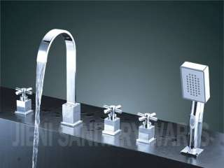 Luxury 5 Pcs Bath Tub Faucet With Hand Held Shower 8810