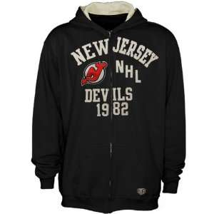 Old Time Hockey New Jersey Devils Youth Black Peralta Full Zip Hoodie