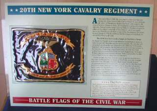 20th New York Cavalry Regiment Battle Flag Patch W&W