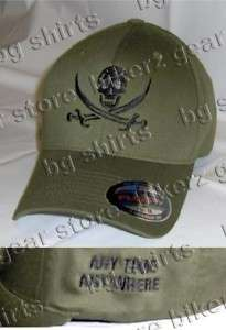 FLEX FIT CALICO JACK NAVY SEALS SPEC OPS HAT ODGREEN