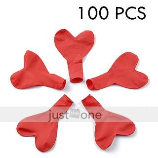 100 pcs RED Heart Balloons Wedding Birthday Valentine Party Décor