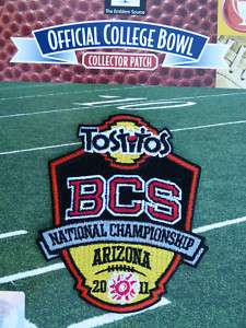 2011 BCS National Championship Official Jersey Patch