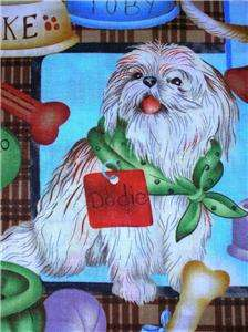 New Dog Fabric BTY Chihuahua Yorkie Dachshund Poodle Animal Rat