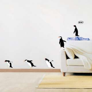 Penguin Kids Wall Stickers Removable Vinyl Wall Decals