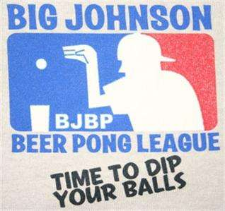 Big Johnson T Shirt Beer Pong League