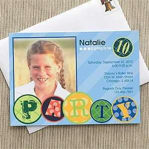 Photo Birthday Party Invitations for Kids