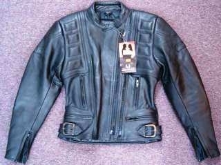 Belstaff Outlaw Womens Black Leather Motorcycle Biker Jacket Cowhide