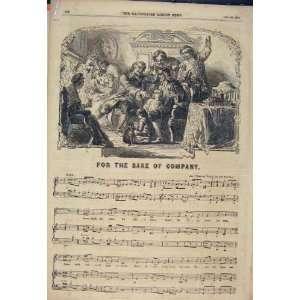 Company Song Music Score Sheet Women Sea Print 1854: Home