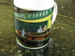 STARBUCKS EDWARD HOPPER NIGHTHAWKS DINER MUG ART BY BURROWS COFFEE MUG