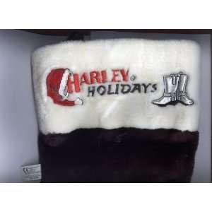 Harley Davidson Black Plush Christmas Stocking (Officially