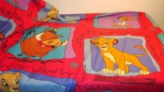 Disney~Lion King~Simba~Twin~Flat~Bed Sheet~EXC~Fabric~Material