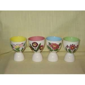 Porcelain  Flower Pattern  Egg Cups   Made In Japan: Everything Else