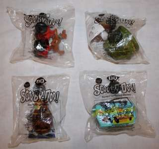 New In Package Dairy Queen Scooby Doo Kids Meal Toys Set of 4