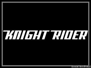 Knight Rider 1982 David Hasselhoff Decal Sticker (2x)