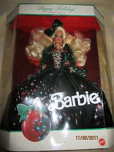 Barbie Doll, Happy Holidays Special Edition 1991, Caucasion, Mattel