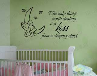 Nursery Baby Kids Room quote Vinyl Wall Decal Sticker