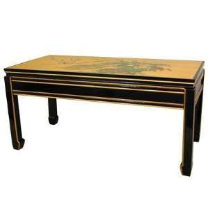 Gold Leaf Coffee Table in Black Furniture & Decor